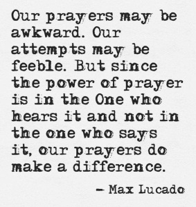 Prayer make a difference